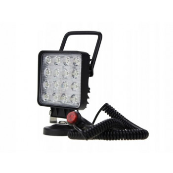 LAMPA ROBOCZA 16 LED 48W KWADRAT.-MAGNES TT.13208M