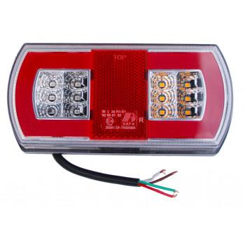 LAMPA TYLNA LED GLO-TRAC 12-24V TT.12030G-PRAWA